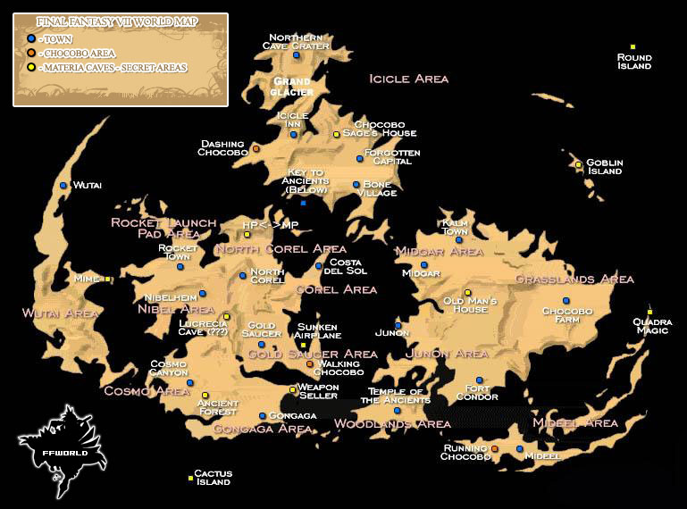 Final Fantasy 13 World Map.Final Fantasy World Final Fantasy Vii World Map