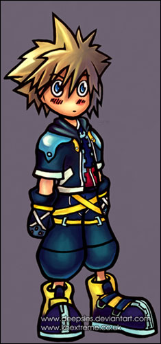 Kingdom hearts axel chibi